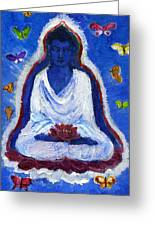 Butterflies Dream Of Buddha Greeting Card