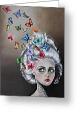 Butterflies In The Thoughts Greeting Card