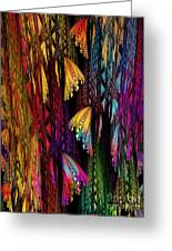 Butterflies On The Curtain Greeting Card