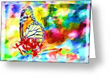 Butterfly Abstracted Greeting Card