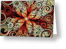 Butterfly And Bubbles Greeting Card by Anastasiya Malakhova