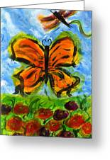 Butterfly And Dragonfly Greeting Card