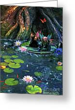 Butterfly Ball Pond Greeting Card