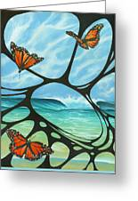Butterfly Beach Greeting Card