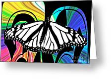 Butterfly Abstract Wall Art Decor Greeting Card