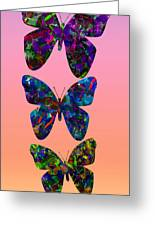 Butterfly Collage IIII Greeting Card