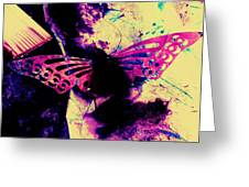 Butterfly Disintegration  Greeting Card