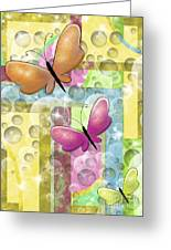 Butterfly Dreams Greeting Card by Karen Sheltrown