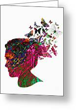 Butterfly Hair Greeting Card