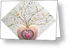Butterfly-heart Greeting Card
