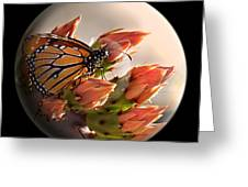 Butterfly In A Globe Greeting Card