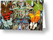Butterfly In Cappella Sistina Sistinechapel Greeting Card