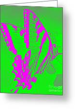 Butterfly Ode To Andy Warhol Greeting Card
