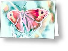 Butterfly On Flower 1 Greeting Card