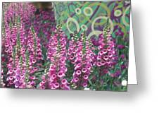 Butterfly Park Flowers Painted Wall Las Vegas Greeting Card
