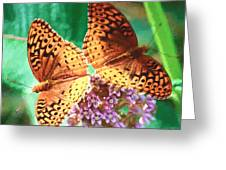 Butterfly Twins Greeting Card