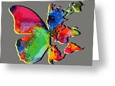 Butterfly World Map 2 Greeting Card