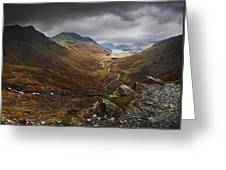 Buttermere Valley Autumn View Greeting Card