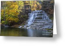 Buttermilk Falls Autumn Greeting Card