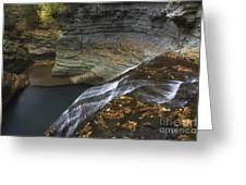 Buttermilk Falls In Autumn I Greeting Card