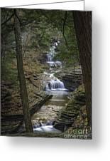 Buttermilk Falls In Autumn IIi Greeting Card by Michele Steffey