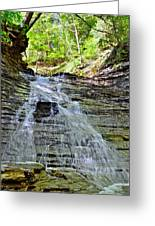 Butternut Falls Greeting Card by Frozen in Time Fine Art Photography