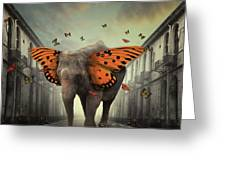 Butterphant Greeting Card