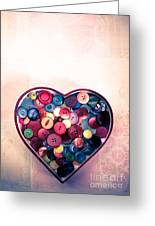 Button Love Greeting Card