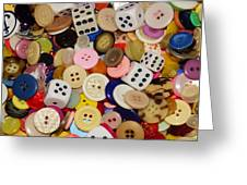 Buttons 676 Greeting Card