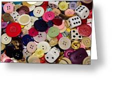 Buttons 678 Greeting Card