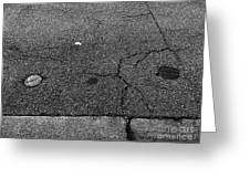 Buttons On The Concrete Greeting Card