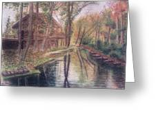 Butts Mill Farm Greeting Card by Andrew Pierce