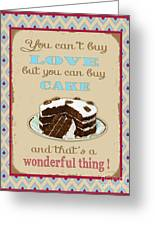 Buy Cake Typography Greeting Card