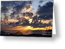 Bvi Sunset  Greeting Card