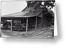 bw Antique Barn Greeting Card
