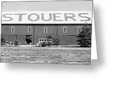 Bw Stovers Farm Market Berrien Springs Michigan Usa Greeting Card