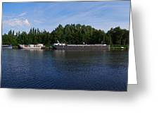 By A Canal Panorama Greeting Card