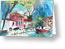 By A French Canal 01 Greeting Card