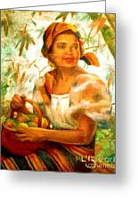 by Amorsolo Greeting Card