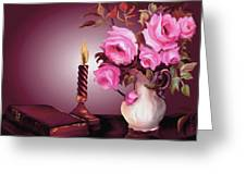 By Candle Light Greeting Card