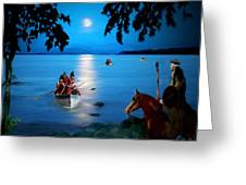 By Cover Of Night Greeting Card
