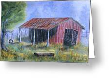 By The Barn Out Back Greeting Card