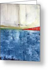 By The Bay- Abstract Art Greeting Card
