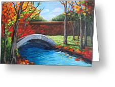 By The Bridge Greeting Card