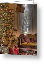 By The Christmas Tree Greeting Card