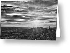 By The Light Of God Greeting Card