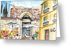 By The Old Cathedral In Cartagena 01 Greeting Card