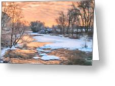 By The Old Mill Greeting Card