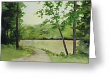 By The River Greeting Card by Becky West