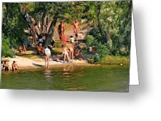 By The River Greeting Card